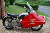 BSA Gold Flash with Avon Streamliner Fairing
