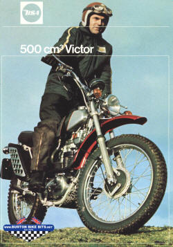 BSA Victor 500 Brochure, Percy Tait