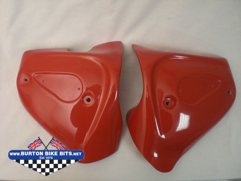 Details about  /BSA A65 Side Body Panel Fibre Made Cherry Painted Left Side