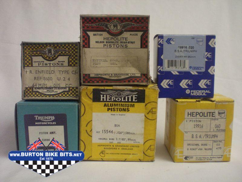 Pistons for Classic Bikes - BSA, Triumph, Norton Royal Enfield