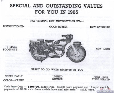 Triumph TRW Advert