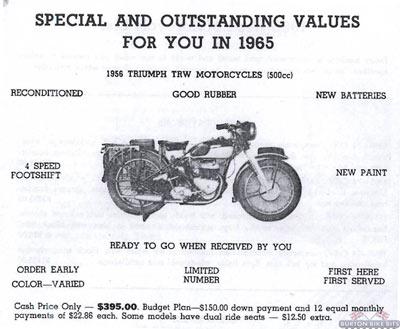 Triumph TRW Advert